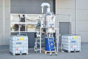 Sistema de recuperación de disolventes ASC-150 para máquinas de impresión flexográfica